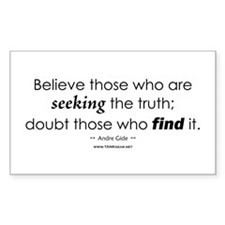 Seeking Truth Rectangle Sticker