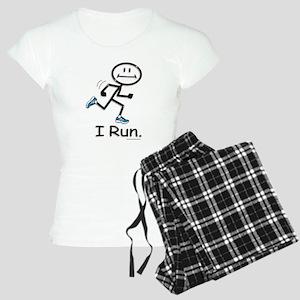 Running Stick Figure Women's Light Pajamas