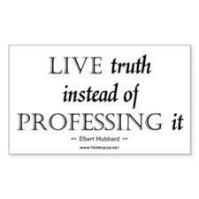 Live Truth Rectangle Sticker