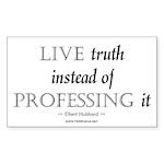 Live Truth Rectangle Sticker