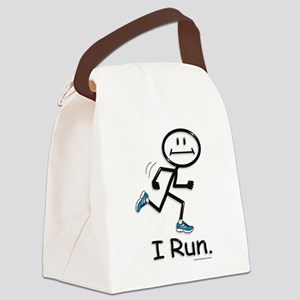 Running Stick Figure Canvas Lunch Bag