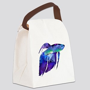 Beta Fish for Polygon Mosaic Blue Purple Canvas Lu