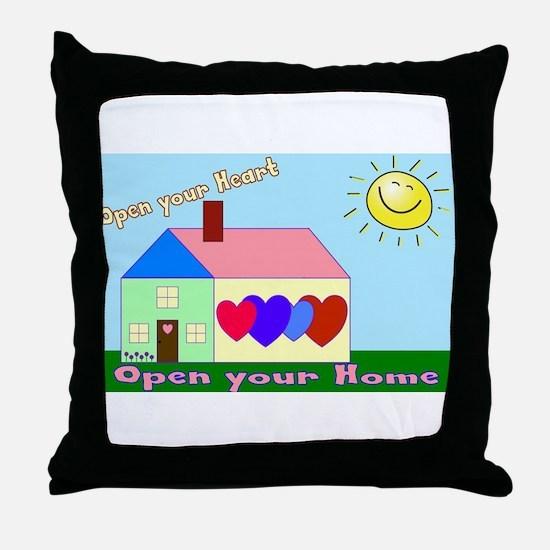 Foster care Throw Pillow