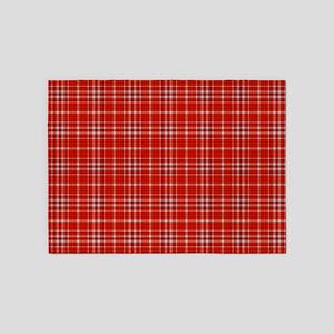 Red Tartan Pattern 5'x7'area Rug