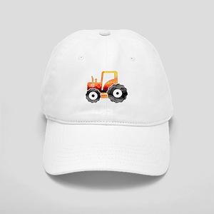 Polygon Mosaic Orange Tractor Baseball Cap