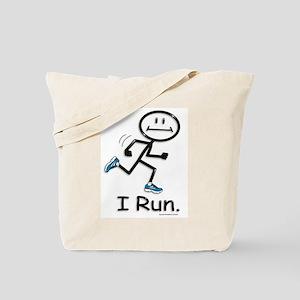 Running Stick Figure Tote Bag