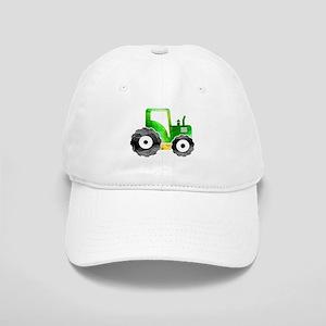 Polygon Mosaic Green Yellow Tractor Baseball Cap