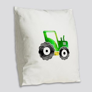 Polygon Mosaic Green Yellow Tractor Burlap Throw P