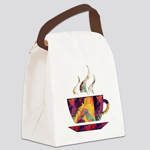 Colorful Cup of Coffee copy Canvas Lunch Bag