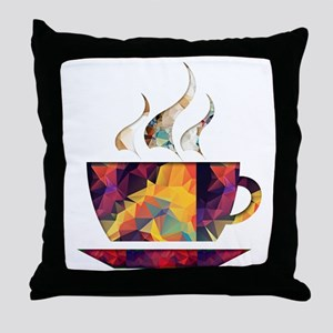Colorful Cup of Coffee copy Throw Pillow