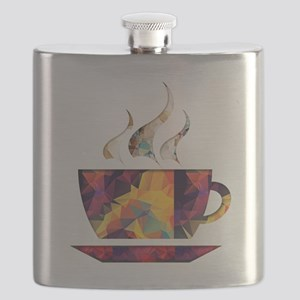 Colorful Cup of Coffee copy Flask