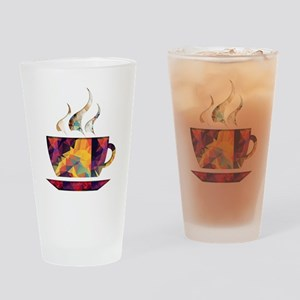 Colorful Cup of Coffee copy Drinking Glass