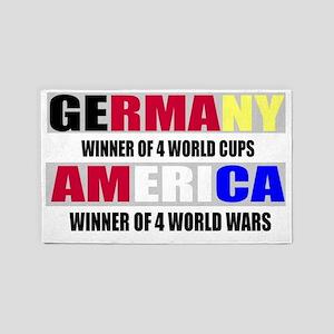 germany vs america 3'x5' Area Rug