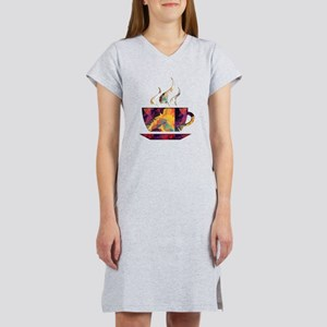 Colorful Cup of Coffee copy Women's Nightshirt