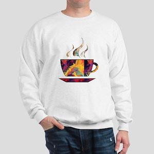 Colorful Cup of Coffee copy Sweatshirt