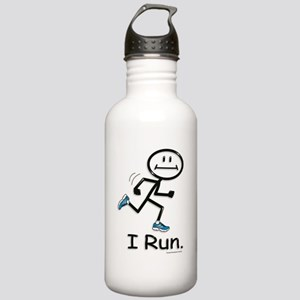 Running Stick Figure Stainless Water Bottle 1.0L