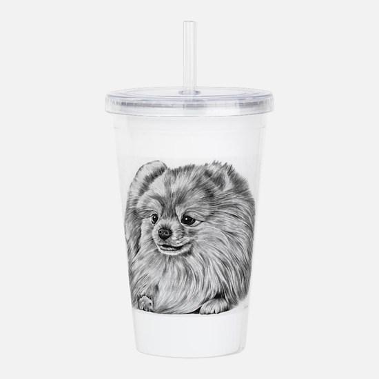 Pomeranian Acrylic Double-wall Tumbler