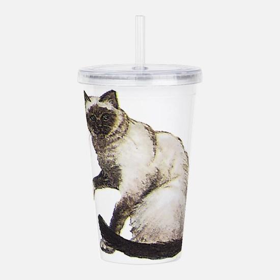 Birman cat Acrylic Double-wall Tumbler