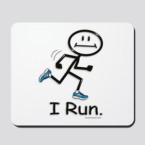 Running Stick Figure Mousepad