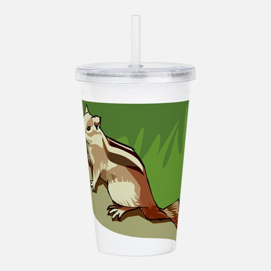 chipmunk Acrylic Double-wall Tumbler