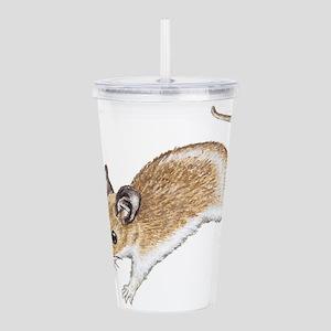 white mouse Acrylic Double-wall Tumbler