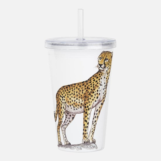 cheetah Acrylic Double-wall Tumbler