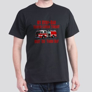Step Dad-What Did Yours Do? Dark T-Shirt