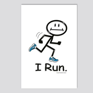Running Stick Figure Postcards (Package of 8)