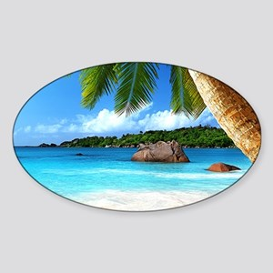 Tropical Island Sticker