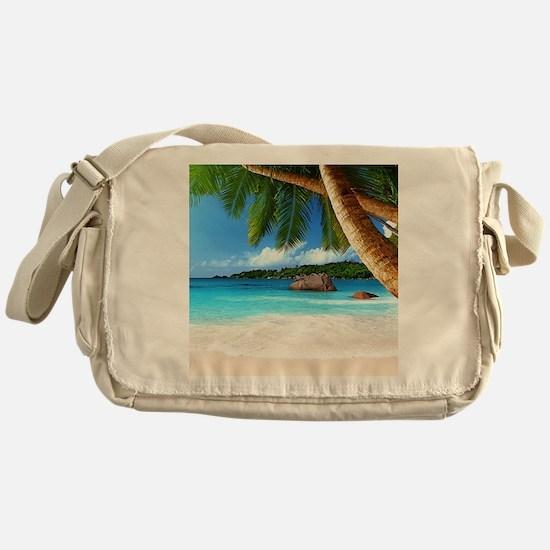 Tropical Island Messenger Bag