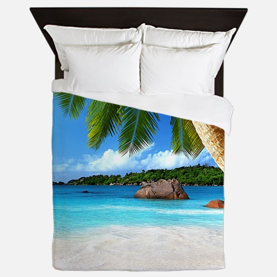 Tropical Island Queen Duvet