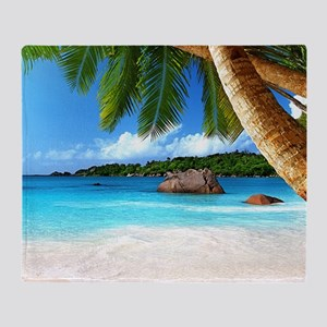 Tropical Island Throw Blanket