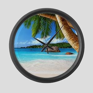 Tropical Island Large Wall Clock