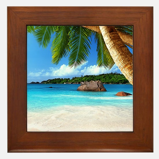 Tropical Island Framed Tile