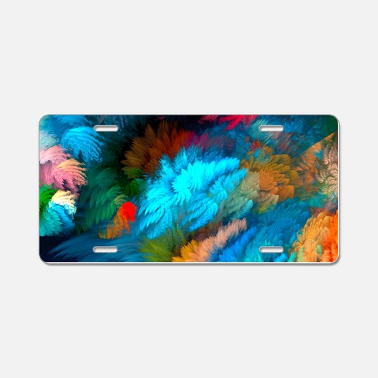Abstract Clouds Aluminum License Plate
