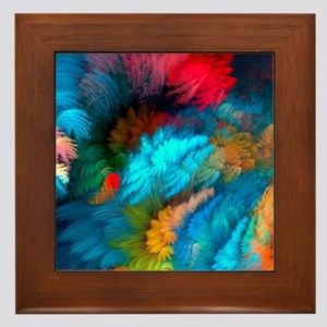 Abstract Clouds Framed Tile