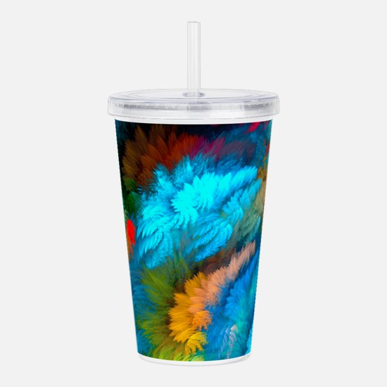 Abstract Clouds Acrylic Double-wall Tumbler