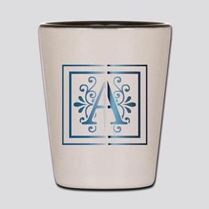 MONOGRAM A BLUE Shot Glass