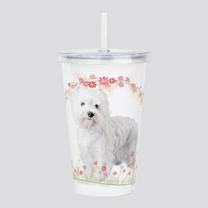flowers Acrylic Double-wall Tumbler