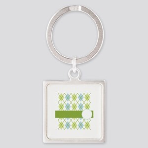 Golf Argyle Pattern Keychains