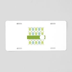 Golf Argyle Pattern Aluminum License Plate