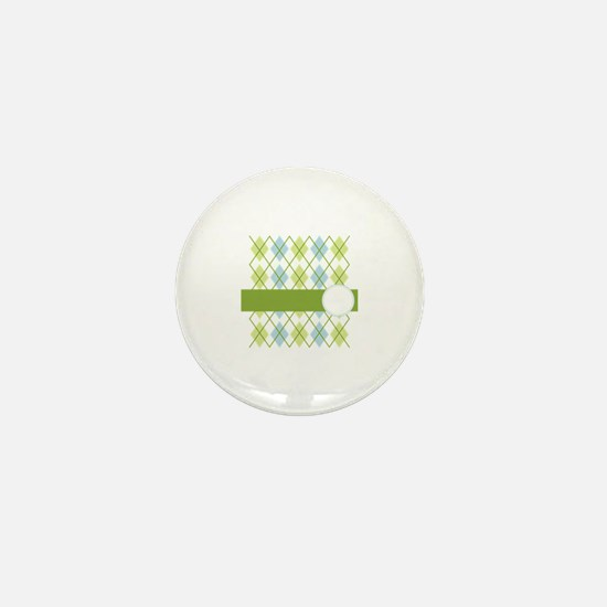 Golf Argyle Pattern Mini Button
