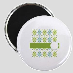 Golf Argyle Pattern Magnets