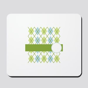 Golf Argyle Pattern Mousepad
