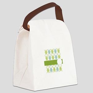 Golf Argyle Pattern Canvas Lunch Bag