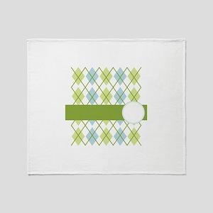 Golf Argyle Pattern Throw Blanket