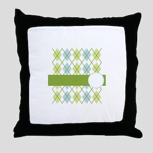 Golf Argyle Pattern Throw Pillow