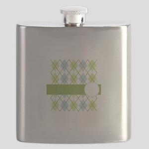 Golf Argyle Pattern Flask