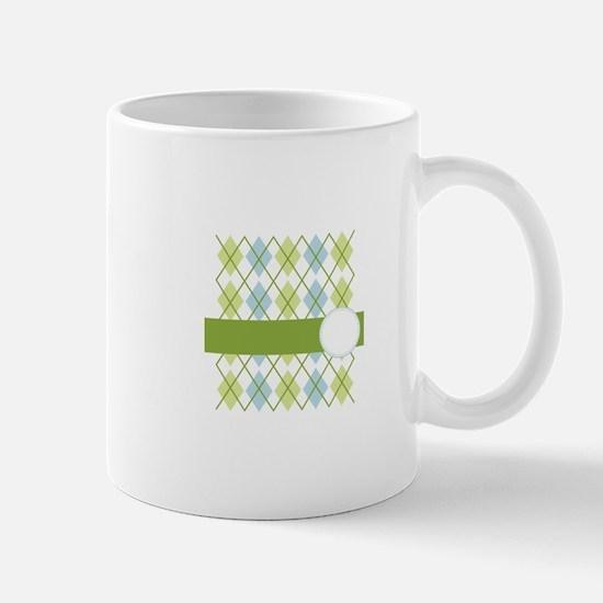 Golf Argyle Pattern Mugs