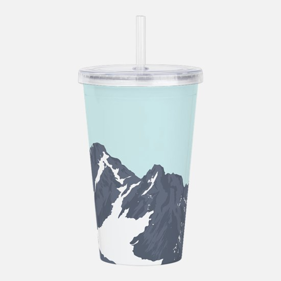 Mountain Peak Acrylic Double-wall Tumbler